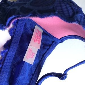 PINK Victoria's Secret Intimates & Sleepwear - VS Pink Beautiful Blue Front Close Racerback Bra